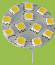 G4 12 SMD 5050 12v AC-DC White and Warm White Side Pin