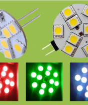 G4 RGB 9SMD Colour Change 9 LED Rear and Side Pin