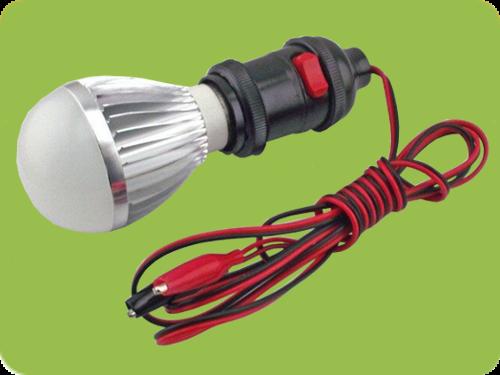 & E27 LED Bulb + Holder 5w | ACDC LED Lights