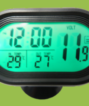 clock thermometer voltmeter