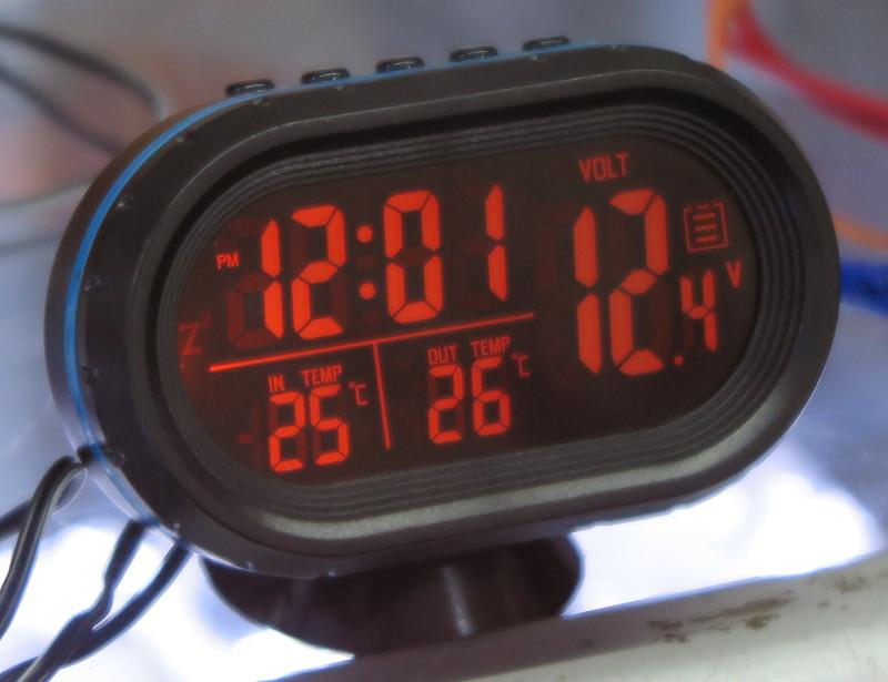 Digital Car Clock Acdc Led Lights