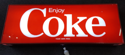 Rigid Strip Light - Installed in Coke Sign