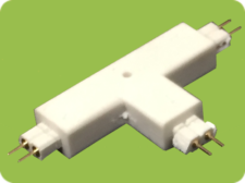 T Connector 2-Pin Male