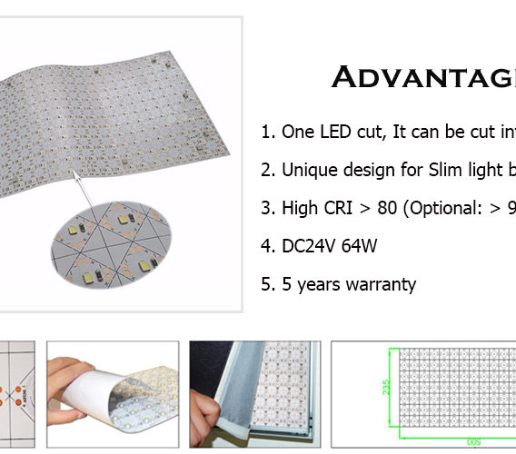 New design for led sheet